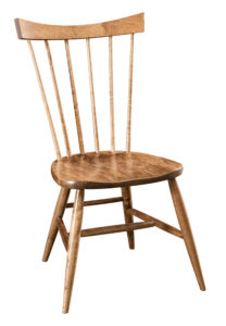 """F & N - New Oxford Side Chair Overall: 21""""w x 21.75""""d x 37""""h Seating: 18.5""""w x 16""""d Seat height: 17.5"""" Back height from seat: 21.25"""""""