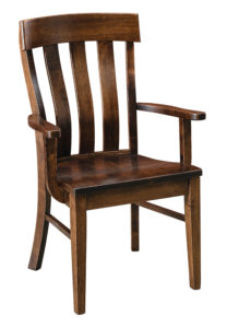 """F & N - Raleigh Arm Chair Overall: 24.25""""w x 22.25""""d x 38""""h Seating: 20""""w x 17.25""""d Seat height: 18"""" Back height from seat: 21.75"""""""