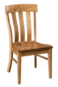 """F & N - Raleigh Side Chair Overall: 20""""w x 22.25""""d x 38""""h Seating: 20""""w x 17.25""""d Seat height: 18"""" Back height from seat: 21.75"""""""