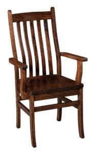 """F & N Abe Arm Chair: 21.5""""w x 17""""d x 39"""" h"""