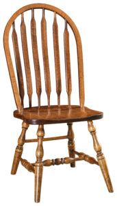 """F & N Bent Paddle Side Chair: 18.5""""w x 16""""d x 40""""h"""