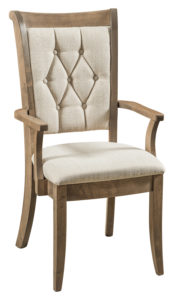 F & N - Chelsea Arm Chair - Dimensions (in inches): 21.5w x 17d x 39h - Other available styles include side chair and desk chair.