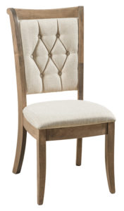 F & N - Chelsea Side Chair - Dimensions (in inches): 18w x 17d x 39h - Other available styles include arm chair and desk chair.