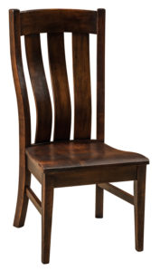 F & N - Chesterton Side Chair - Dimensions (in inches): 21w x 18.5d x 43h - Other available styles include arm chair, swivel bar stool, stationary bar stool, and desk chair.
