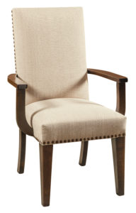 F & N - Corbin Arm Chair - Dimensions (in inches): 27w x 18d x 42h - Other available styles include side chair, swivel bar stool, stationary bar stool, and desk chair.