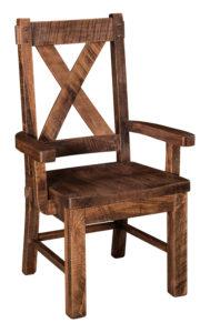"""F & N Denver Arm Chair: 23.75""""w x 18.5""""d x 42.25""""h"""