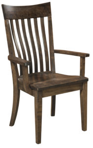 F & N - Fontana Arm Chair - Dimensions (in inches): 25.5w x 17d x 40h -Other available styles include side chair swivel bar stool, stationary bar stool, and desk chair.