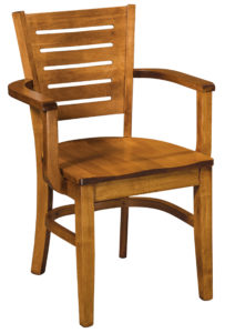 F & N - Hallowell Arm Chair - Dimensions (in inches): 22.5w x 17.5d x 33h - Other available styles include side chair, swivel bar stool, stationary bar stool, and desk chair.
