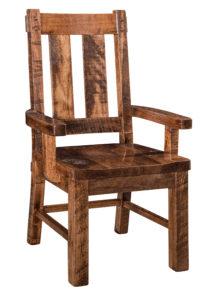 """F & N Houston Arm Chair: 23.75""""w x 18.5""""d x 42.25""""h"""