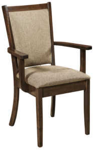 F & N - Kalispel Arm Chair - Dimensions (in inches): 24w x 16.5d x 37.5h - Other available styles include side chair, swivel bar stool, stationary bar stool, and desk chair.
