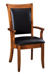 "F & N Kimberly Arm Chair: 21.5""w x 17""d x 39.5""h"