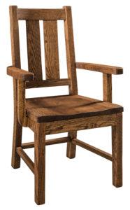 """F & N Knoxville Arm Chair-Vintage Circular Sawn: 24""""w x 18""""d x 40""""h"""