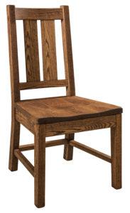 "F & N Knoxville Side Chair-Vintage Circular Sawn: 20""w x 18""d x 40""h"