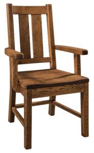 "F & N Knoxville Arm Chair: 24""w x 18""d x 40""h"