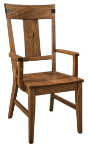 "F & N Lahoma Arm Chair-Vintage Circular Sawn: 22""w x 17.5""d x 41.5""h"