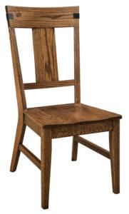 "F & N Lahoma Side Chair-Vintage Circular Sawn: 19""w x 17.5""d x 41.5""h"