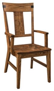 """F & N Lahoma Arm Chair: 22""""w x 17.5""""d x 41.5""""h"""
