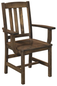F & N - Lodge Arm Chair - Dimensions (in inches): 25w x 17d x 38h - Other available styles include side chair, arm bench, swivel bar stool, stationary bar stool, and desk chair.