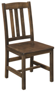 F & N - Lodge Side Chair - Dimensions (in inches): 18w x 17d x 38h - Other available styles include arm chair, arm bench, swivel bar stool, stationary bar stool, and desk chair.