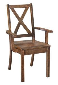 """F & N Manhattan Arm Chair: 22.5""""w x 17""""d x 37""""h"""