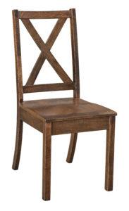 """F & N Manhattan Side Chair: 16.75""""w x 17""""d x 37""""h"""