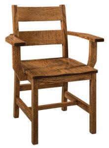 """F & N Memphis Arm Chair-Vintage Circular Sawn: 26""""w x 17.5""""d x 34""""h"""