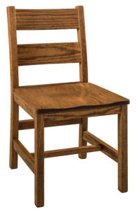 """F & N Memphis Side Chair-Vintage Circular Sawn: 18.5""""w x 17.5""""d x 34""""h"""