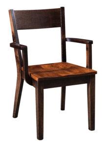"""F & N Monterey Arm Chair: 22.75""""w x 17.5""""d x 34""""h"""