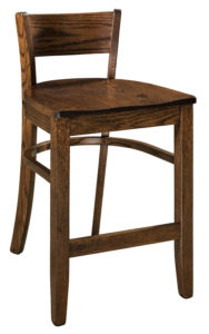 """F & N Mulligan Stationary Bar Stool: Seating 18""""w x 17""""d, Back height from seat: 9"""""""