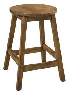 "F & N Oakley Stationary Bar Stool: 15"" Diameter Seat, 24"" or 30"" h"
