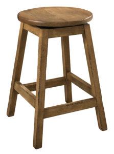 "F & N Oakley Swivel Bar Stool: 15"" Diameter Seat, 24"" or 30"" h"