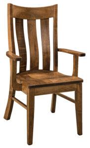 "F & N Pierre Arm Chair: 24.5""w x 17.5""d x 41"" h"