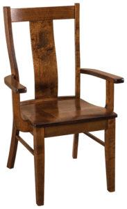 "F & N Ramona Arm Chair: 24.25""w x 17.5""d x 38.5""h"