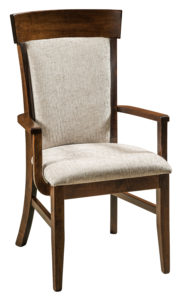F & N - Riverside Arm Chair - Dimensions (in inches): 24w x 18d x 41.25h - Other available styles include side chair, swivel bar stool, stationary bar stool, and desk chair.