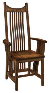 "F & N Royal Mission Arm Chair: 25""w x 17.5""d x 49""h"