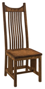 "F & N Royal Mission Side Chair: 18.5""w x 17.5""d x 49""h"