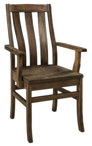 """F & N Salem Arm Chair: 22""""w x 16.5""""d x 38.5"""" h"""