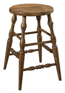 "F & N Scoop Stationary Bar Stool:15"" Diameter Seat, 24"" or 30"" h (fancy legs standard, plain legs optional)"