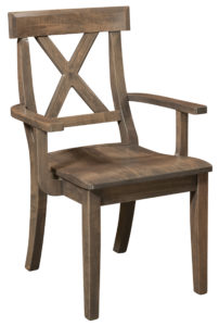 F & N - Vornado Arm Chair - Dimensions (in inches): 24.25w x 17.25d x 36h - Other available styles include side chair, swivel bar stool, stationary bar stool, and desk chair.