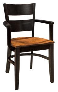 """F & N Wallis Arm Chair: 22.5""""w x 17.5""""d x 33""""h"""