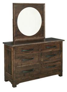 SCHWARTZ-Farmhouse 6 Drawer Dresser with Round Mirror See store for details
