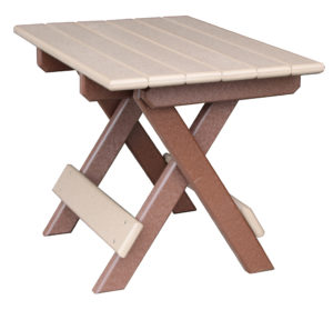 CREEKSIDE - Folding End Table (FET22) 16 x 22 Top