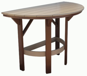 "Creekside 60"" Half Round Bar Table"