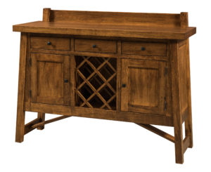 WOODSIDE - Hamlet Sidebaord with Wine Rack - Dimensions (in inches): 18d x 54w x 43h - Custom features and finish options available, please see store for details.