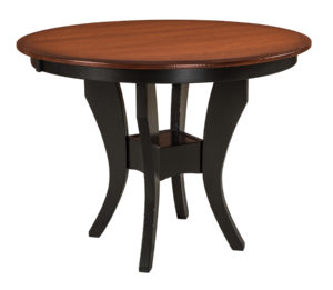 WEST POINT - Imperial Single Pub Table - Dimensions (in inches): 42 x 42 and 48 x 48 with up to two leaves or 42 x 42, 48 x 48, and 54 x 54 solid top - Custom finish options available, see store for details.