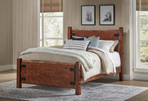 "INDIAN TRAIL - Live Wood HB 53"" - FB 26"" Queen Size: 65½"" wide x 87"" long"