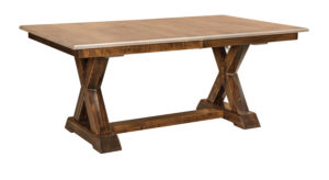 WEST POINT - Knoxville Trestle Table - Dimensions (in inches): 42x72 or 48x72 with up to four leaves - Custom finish options available, see store for details.