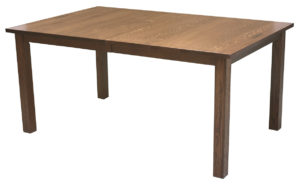 WOODSIDE - Mission Leg Table - Dimensions (in inches): 42x60, 42x66, 42x72, 48x60, 48x66, or 48x72 - Custom finish options available, please see store for details.
