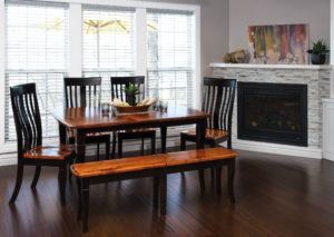 WEST POINT - Newbury Table with Lexington Side Chairs and Newbury Bench Collection - Table Dimensions (in inches): 42x60, 42x66, 42x72, 48x60, 48x66, and 48x72 with up to 4 leaves - All pieces sold separately - Custom finish options available, please see store for details.