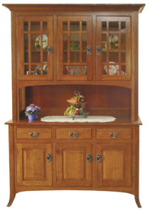 TOWNLINE - Open Mission 3-Door Hutch - Dimensions (in inches): 20d x 38w x 80h, also available 2-Door 20d x 38w x 80h, or 4-Door 20d x 72w x 80h - Also available as base-only sideboard - Custom features and finish options available, please see store for details.